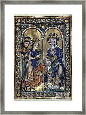 Adoration Of Magi Framed Print
