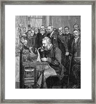 Alexander Graham Bell Framed Print by Granger