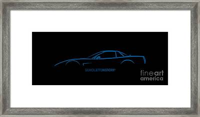 American Sports Car Silhouettehistory Framed Print