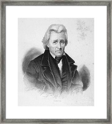 Andrew Jackson (1767-1845) Framed Print by Granger