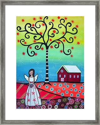 Angel Framed Print by Pristine Cartera Turkus