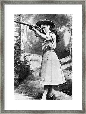 Annie Oakley (1860-1926) Framed Print by Granger
