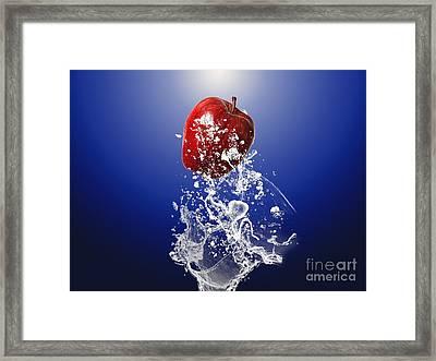 Apple Splash Framed Print