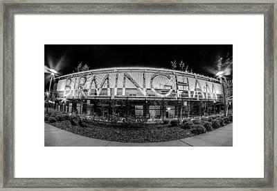 April 2015 - Birmingham Alabama Regions Field Minor League Baseb Framed Print by Alex Grichenko