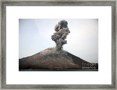 Ash Cloud From Vulcanian Eruption Framed Print by Richard Roscoe