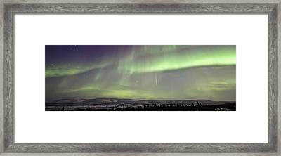 Aurora Borealis Or Northern Lights Framed Print