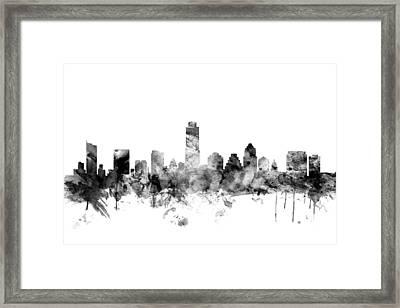 Austin Texas Skyline Framed Print