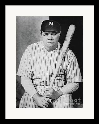 Ny Yankees Portrait Framed Prints