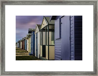 Beach Huts Framed Print by Martin Newman