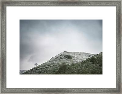 Beautiful Winter Landscape Image Around Mam Tor Countryside In P Framed Print by Matthew Gibson