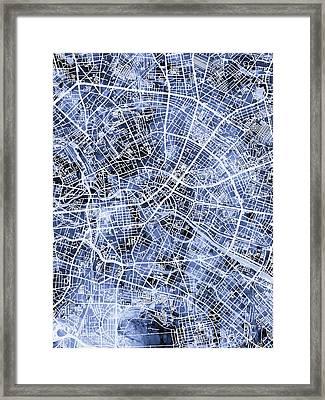 Berlin Germany City Map Framed Print