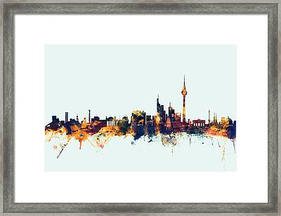 Berlin Germany Skyline Framed Print by Michael Tompsett