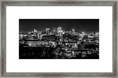Birmingham Alabama Evening Skyline Framed Print