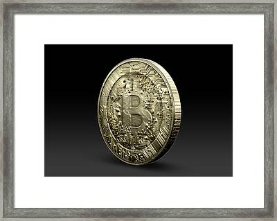 Bitcoin Physical Framed Print