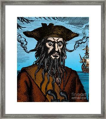 Blackbeard Edward Teach English Pirate Framed Print by Science Source
