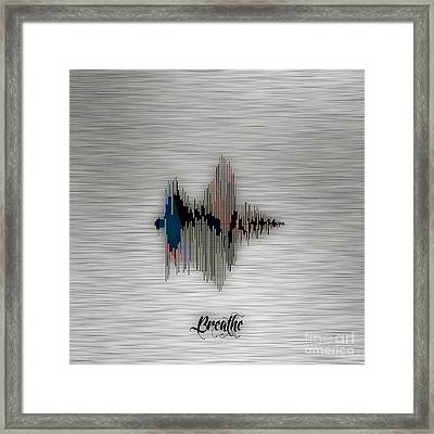 Breathe Spoken Soundwave Framed Print by Marvin Blaine