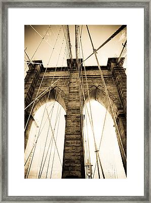 Brooklyn Bridge Framed Print by Patrick  Flynn
