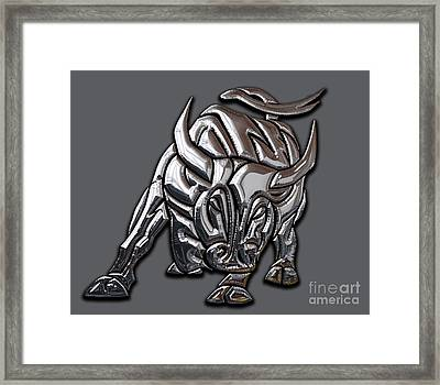 Bull Collection Framed Print by Marvin Blaine