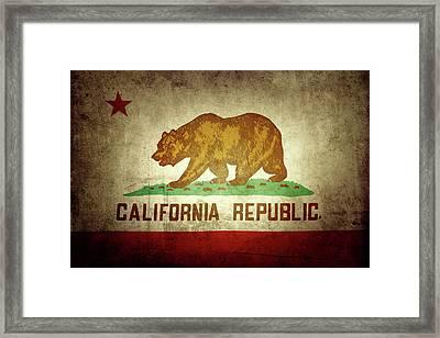 California Flag Framed Print by Les Cunliffe