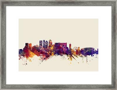 Cape Town South Africa Skyline Framed Print by Michael Tompsett