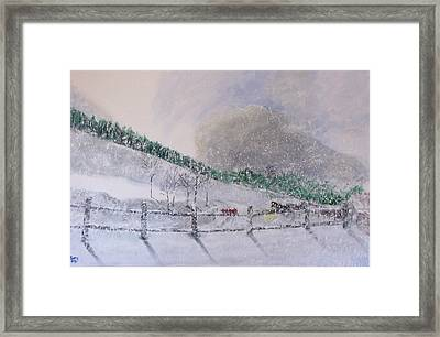 Framed Print featuring the painting 5 Card Stud by Gary Smith