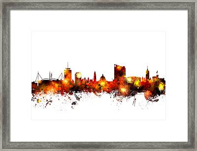 Cardiff Wales Skyline Framed Print by Michael Tompsett