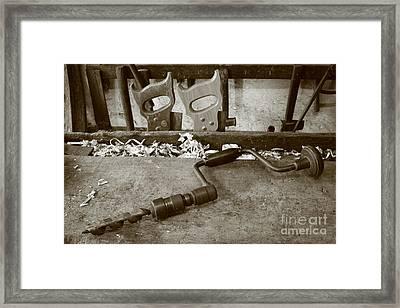 Carpentry Tools Framed Print