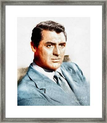 Cary Grant, Vintage Hollywood Actor Framed Print