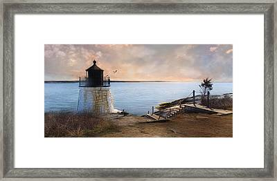 Framed Print featuring the photograph Castle Hill Light by Robin-Lee Vieira