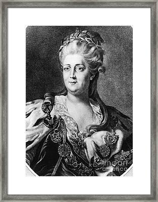 Catherine II (1729-1796) Framed Print