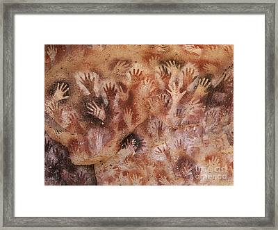 Cave Of The Hands, Argentina Framed Print by Javier Trueba/MSF