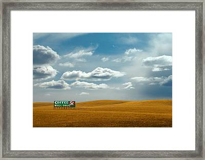 5 Cent Coffee Framed Print