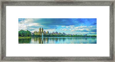 Framed Print featuring the photograph Central Park by Theodore Jones