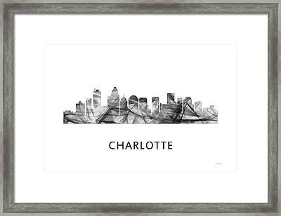 Charlotte Nc Skyline Framed Print