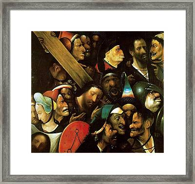 Christ Carrying The Cross Framed Print by Hieronymus Bosch