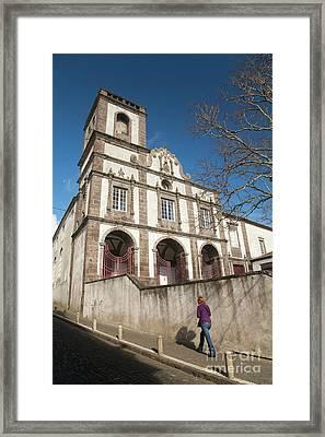 Church In Ponta Delgada Framed Print