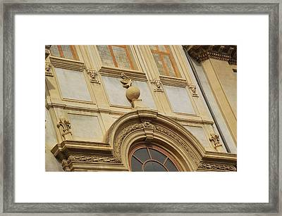 Church Texture In Rome Framed Print by JAMART Photography