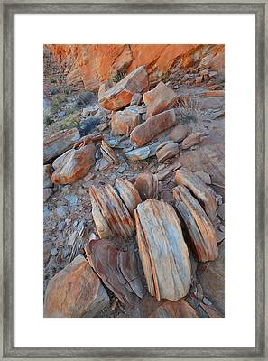 Framed Print featuring the photograph Colorful Cove In Valley Of Fire by Ray Mathis