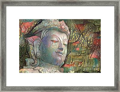 Colorful Indian Diety Figure Framed Print