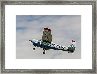 Cracker Fly-in Framed Print