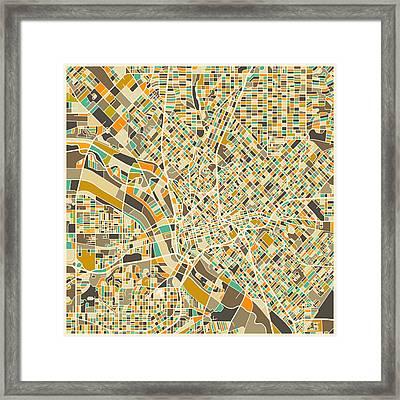 Dallas Map Framed Print