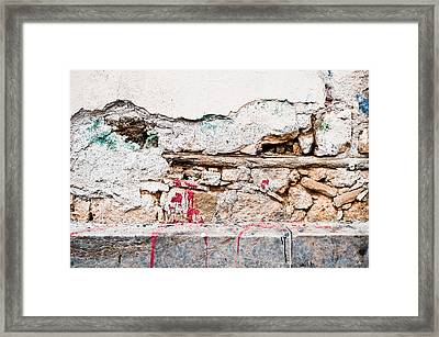 Damaged Wall Framed Print