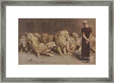 Daniel In The Lions Den Framed Print by MotionAge Designs