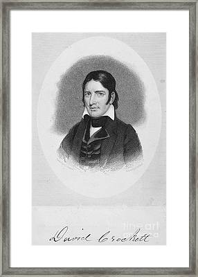 Davy Crockett (1786-1836) Framed Print by Granger