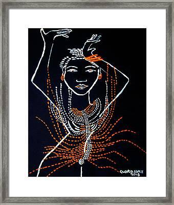 Dinka Diva - South Sudan Framed Print by Gloria Ssali