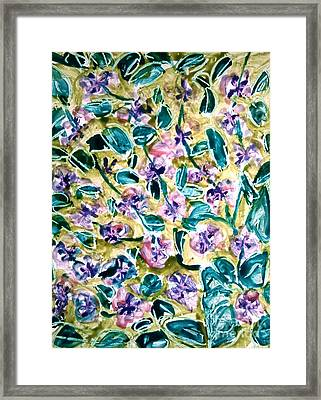 Divine Flower Framed Print by Baljit Chadha