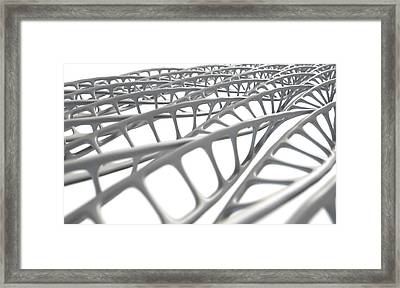 Dna Strand Micro Framed Print by Allan Swart