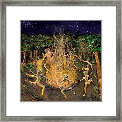 Framed Print featuring the painting Dancing Naked In The Forest Cd Cover by Thomas Lupari
