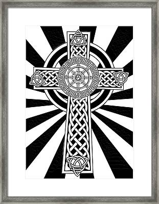 5 Element Cross Framed Print by Stephen Humphries