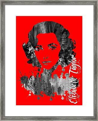 Elizabeth Taylor Collection Framed Print by Marvin Blaine